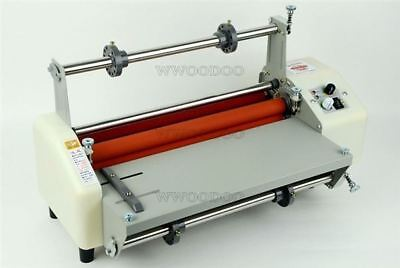 """New Four Rollers Hot And Cold Roll Laminating Machine For 13"""" kn"""