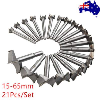 21Pcs Forstner Woodworking Drill Bit Set Boring Hole Saw Cutter Wood Tools OZ