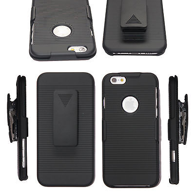 For iPhone XS Max XR 7 8 plus Holster with Belt Clip Stand Accessory Case Cover