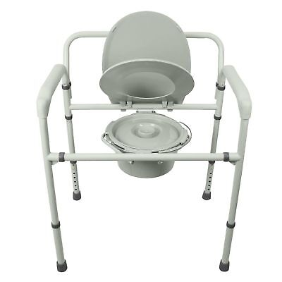 "Bariatric Bedside Commode by Vive - 3 in 1 Toilet Chair - ""New in open box"""