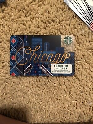 "Starbucks Chicago Gift Card ""Chicago"" cursive Series 6138 Empty Gift Card"