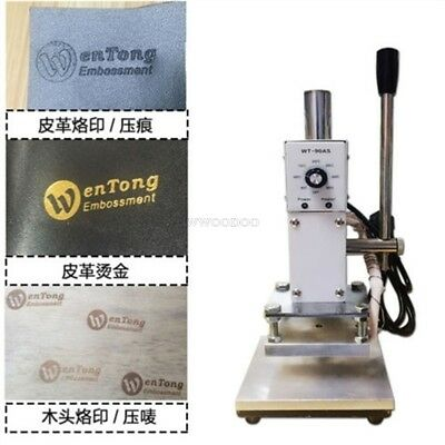 Small Manual Hot Foil Stamping Machine Leather Plastic Bronzing Machine vg