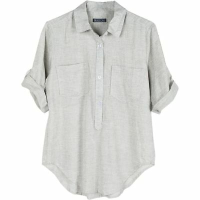 United By Blue Torrey Popover Shirt Grey S