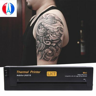 Pro Noir Tatouages transfert imprimante Tattoo thermocopieur printer GN