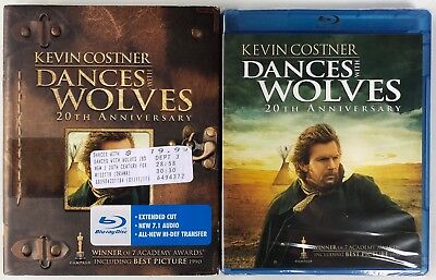 New Dances With Wolves Blu Ray 20Th Anniversary Ed + Rare Oop Slipcover Sleeve