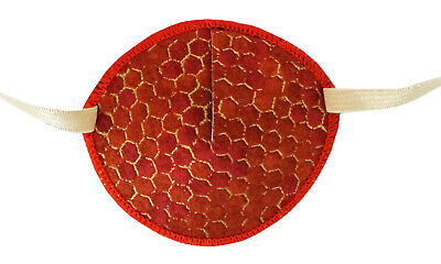 Medical Eye Patch, BRONZE HONEYCOMBE, for Right or Left eye, Soft and Washable