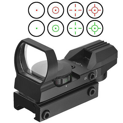 Optics Compact Reflex Red Green Dot Sight Scope 4 Reticle for Hunting  GN