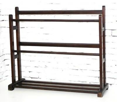 Vintage Mahogany Towel Rail Clothes Drying Rack - FREE Shipping [PL4290]