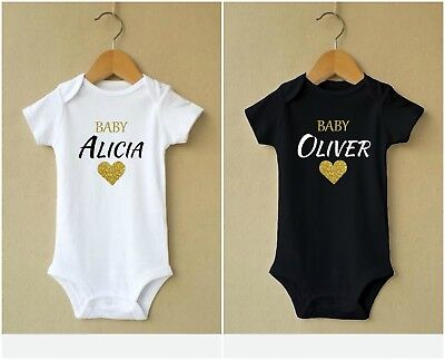 Personalised Baby Vest Unisex Printed Design New Arrival Clothes Bodysuit