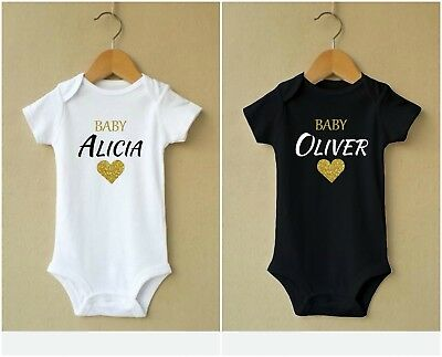 Personalised Pregnancy Baby Vest Grow Design New Woman Clothes Bodysuit Heart