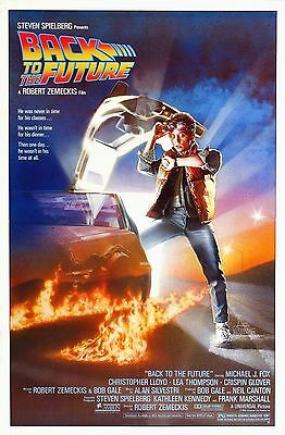 "Back to the future 1985 Movie Silk Fabric Poster 11""x17"" 24""x36"" Sci-fi"