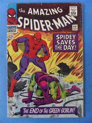 AMAZING SPIDER-MAN 40 1966 Classic END OF THE GREEN GOBLIN!