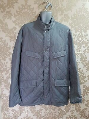 New men's Barbour Fourfeld quilted grey jacket size XXL