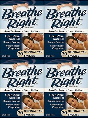 Breathe Right 120 Nasenpflaster small / med. hautfarben in OVP - besser atmen
