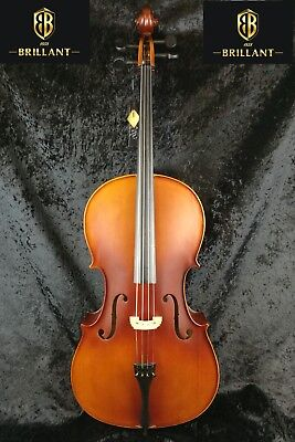 Brillant Student Cello Outfit 4/4 Full Size Satin Finish with Bag, Bow and Rosin
