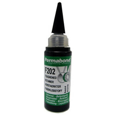 Permabond F202 - 200ml High-Strength, Toughened, High-Peel Strength Retainer