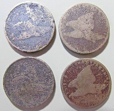 ***4***1857..1858  Flying Eagle Cents***Corroded Details***