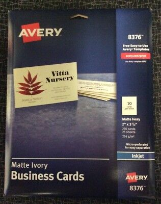 avery 8376 business cards inkjet ivory color 1 side printable bulk
