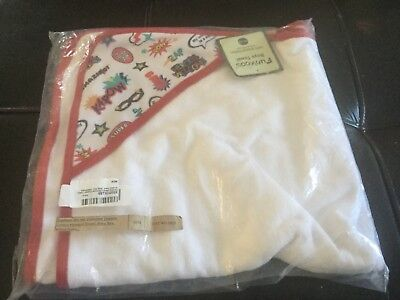 Funkoos Heroes Welcome Organic Baby Boys Hooded Infant Bathing Towel 100% Cotton