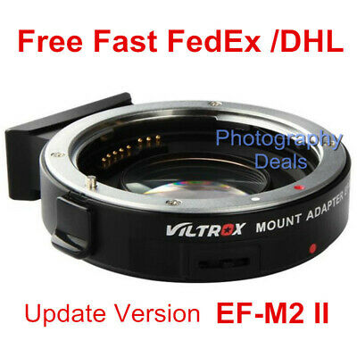 Viltrox EF-M2 II Auto Focus Speed Booster Mount Adapter for Canon EF Lens to M43