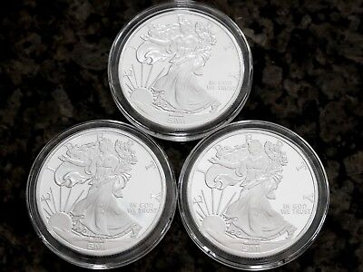Sunshine Minting Lot of 3 Walking Liberty 1oz Silver Rounds Mint Mark SI™, NR