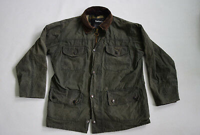 Men BARBOUR waxed  jacket coverdale plaid size L