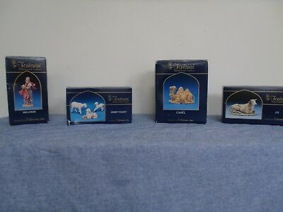 "Lot OF 4 Vintage 5"" inch Fontanini Depose Italy Roman Nativity Set Figures"