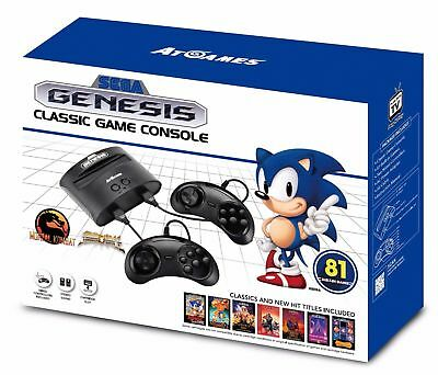 Sega Genesis Classic Game Console 2017 Retro 80+ Built in Games + 2 Controllers™