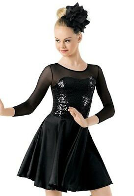 New Competition Figure Skating Dress Black Colour  Adult XLarge