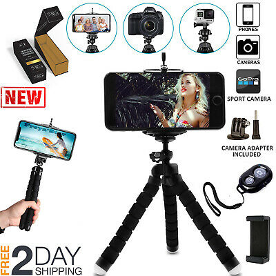 Mini Flexible Octopus Tripod Holder Remote Shutter for Cell Phone iPhone Android