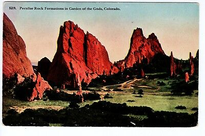 Vintage Garden of the Gods, CO Postcard - Peculiar Rock Formations - Unposted