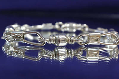 Emmaus Sterling Silver Fishers Of Men Bracelet XL Heavy Link with Ichthys (Fish)