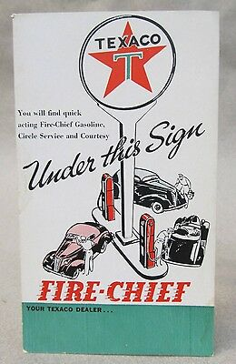 1938 TEXACO FIRE CHIEF - UNDER THE SIGN postcard S338-8 8-38 unused