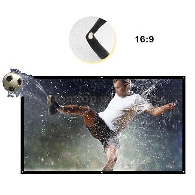 """60''/84''/100'' 120"""" 150"""" Foldable Projector Screen Home Theater HD Projection"""