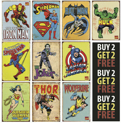 DC COMICS MARVEL SUPER HERO AVENGERS A4/A3  300gsm Poster Wall Art Deco Print