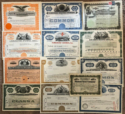 Mixed Lot Set of 59 stock and bond certificates all unique with great vignettes!