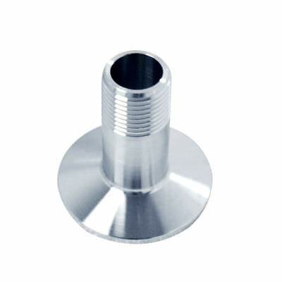 """5pcs SS 316 1/2"""" DN15 Sanitary Male NPT Threaded Ferrule Pipe For Tri Clamp Type"""