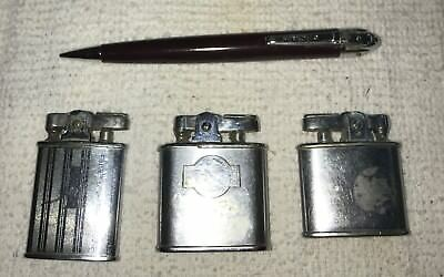 Vintage Lot of 4 Ronson Lighters Pencil Early Ones Collectors Estate
