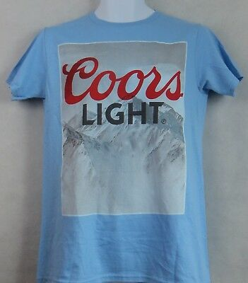 57d91ba91160a COORS LIGHT Beer Mens Tee Shirt T-Shirt Blue Mountains Officially Licensed  NEW