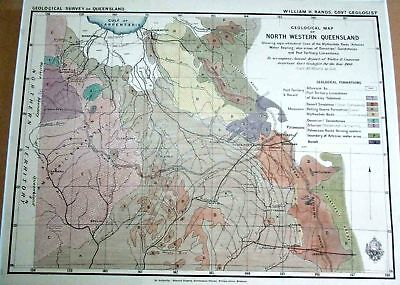 North Westen Queensland. Map. 1900.