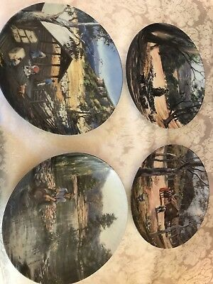 Bendigo Pottery Plates. The Early Settlers 4 for sale in new condition