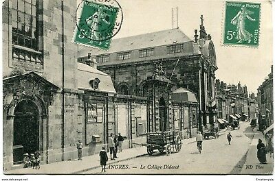 CPA-Carte postale- FRANCE -Langres - Le Collège Diderot - 1908 (CP1326)