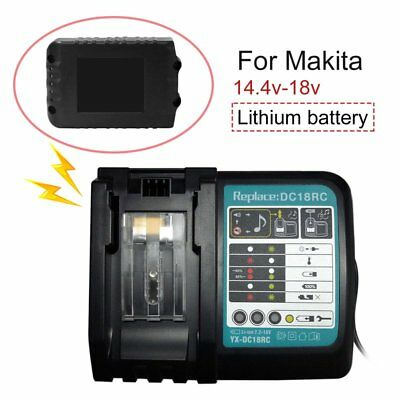 Makita DC18RC Lithium-Ion Battery Charger for BL1830/BL1840/BL1850 Battery Ld