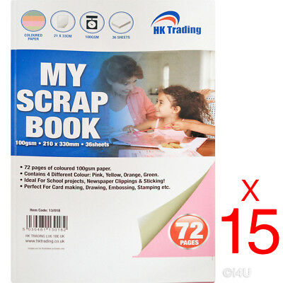 15 X My A4 Scrap Book Personalised Scrapbook Art Craft Note Diary Craftboard