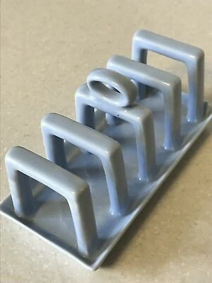 Vintage Carlton Ware Art Deco Style Pale Blue Ceramic Toast Rack - Great Cond.