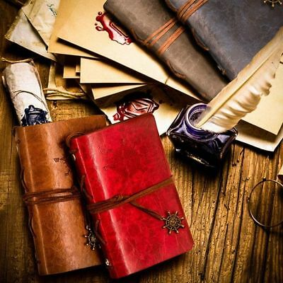 """Traveler's Handbook Pocket"" 1pc Faux Leather Vintage Diary Journal Notebook"