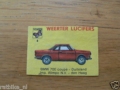 04 Weerter Lucifers Bmw 700 Coupe ,Matchbox Labels,Etiketten