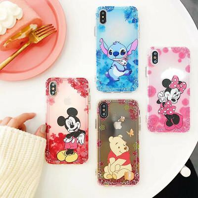 Disney Minnie Mickey ShockProof Soft Case Cover For iPhone XR XS Max 6 7 8 &Plus