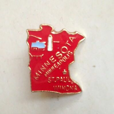 MINNESOTA Minneapolis St. Paul Lapel Pin Pinback * Vintage * Combine Shipping!