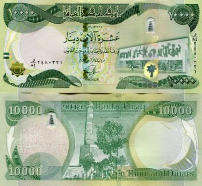 10000 New Iraqi Dinars 2014 (2013) with New Security Features - IRAQ DINAR UNC